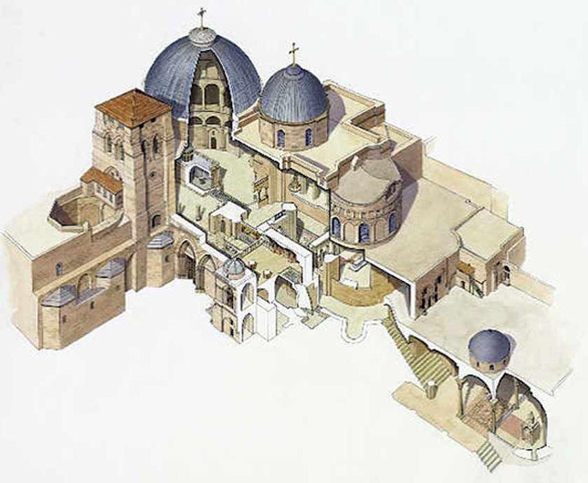 схема Храм Гроба Господня